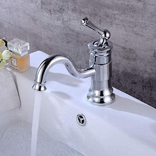 ZJN-JN 蛇口 電着シルバー洗面化粧台回転蛇口ヨーロピアンホームホテルホットとコールドの調整の下でカウンター盆地洗面単穴の蛇口美しく実用 台付