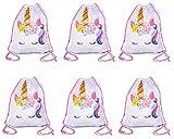 Large Size Unicorn Drawstring Bag, Unicorn Party Favor Bag, Overnight Bag (6)