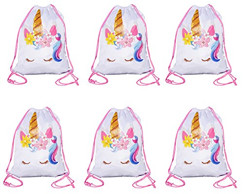 Large Size Unicorn Drawstring Bag, Unicorn Party Favor Bag, Overnight Bag (6)