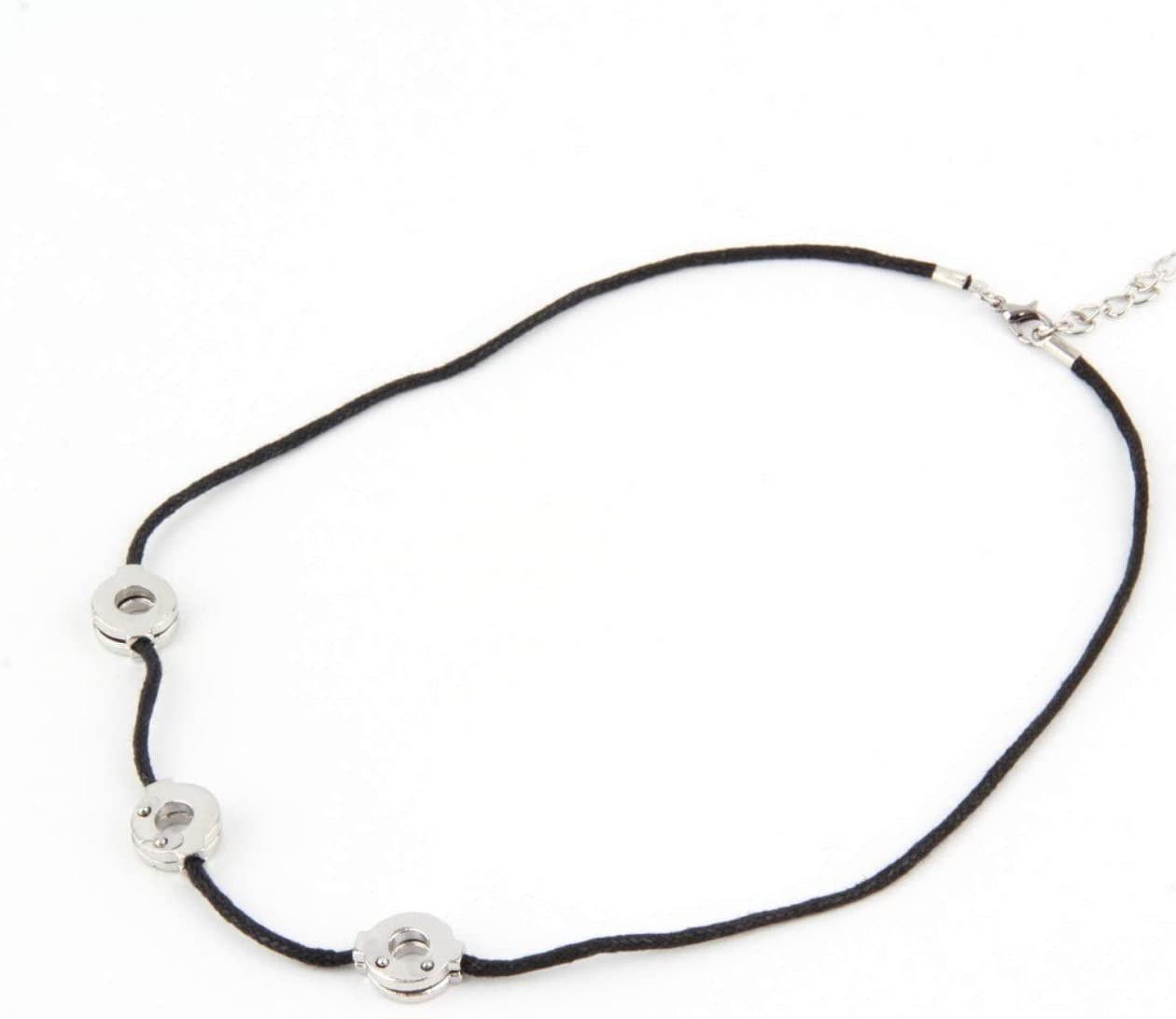 1pcs Women Necklace Chain Titanium Steel Itachi Cosplay 3 Loops Pendant Necklace Party Wedding Accessories Female Jewelry