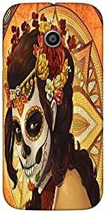 Snoogg Tribal Chic Designer Protective Back Case Cover For Moto-E 2Nd Genration