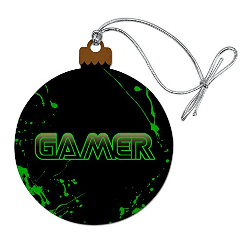GRAPHICS & MORE Gamer Paint Splatter Gaming Geek Wood Christmas Tree Holiday Ornament (Christmas Ornaments Xbox)