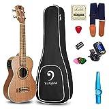Ukulele Concert Electric Ukulele Mahogany Wood Solid 23 inch Best Vintage Acoustic Ukelele