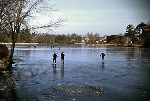 Ice Skating C1940Npeople Ice Skating On A Lake In The Vicinity Of Brockton Massachusetts Photographed By Jack Delano C1940 Poster Print by (18 x 24)
