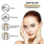 LA Organo Glutathione Papaya Skin Whitening Soap; with Vitamin E and C; Dark Spot and Dead Skin Cell Removal; 100 g