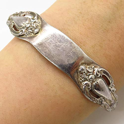 Lunt Sterling Patterns - VTG Lunt 925 Sterling Silver Eloquence Pattern Spoon Cuff Bracelet 7.5