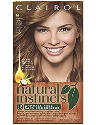 Clairol Natural Instincts, 7G/9G Golden Honey Dark Golden Blonde, Semi-Permanent Hair Color, 1 Kit