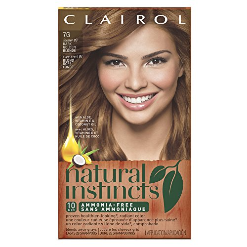 Clairol Natural Instincts, 7G / 9G Golden Honey Dark Golden Blonde, Semi-Permanent Hair Color, 1 Kit