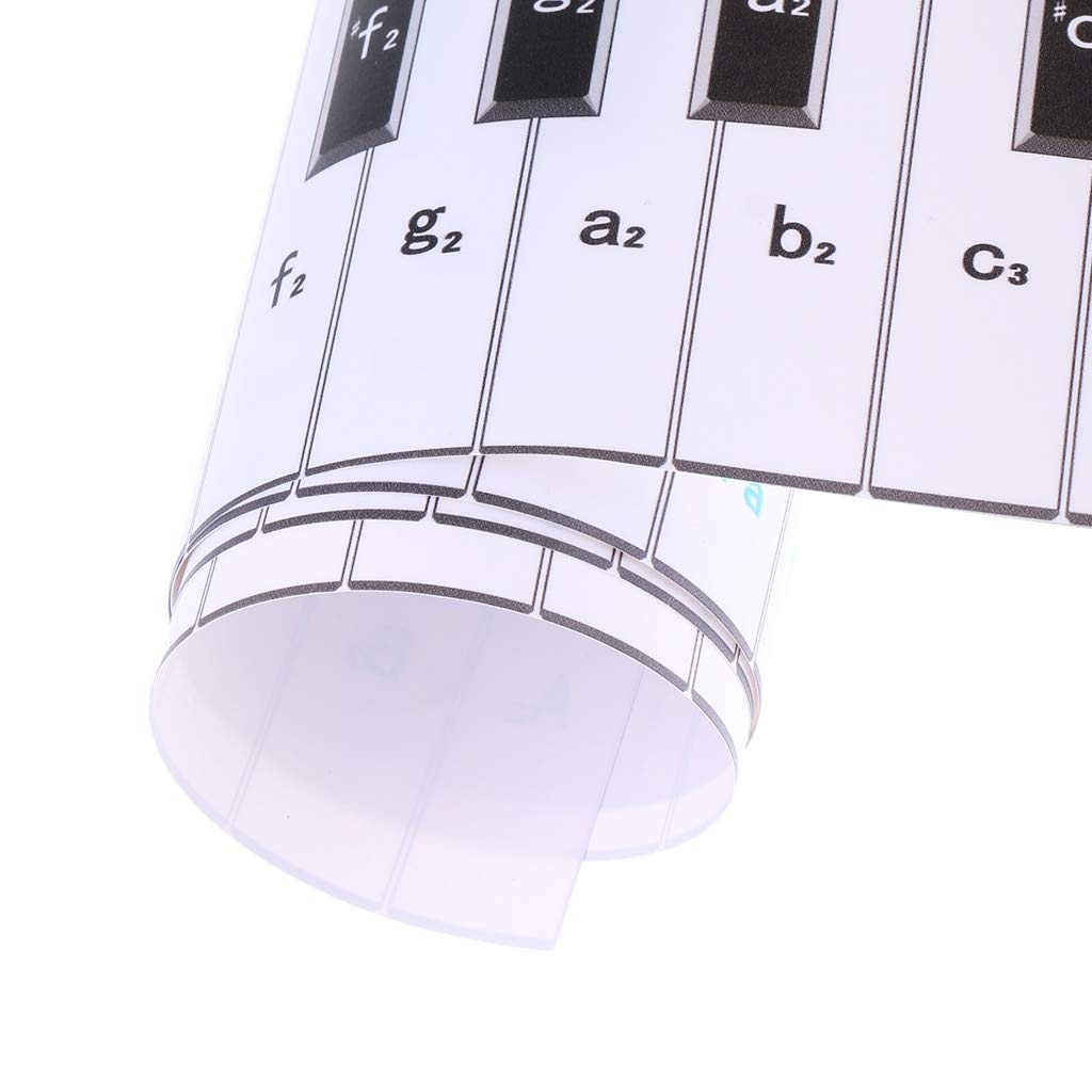 Waterproof Paper Anti-Dust 88 Key Piano, Keyboard Finger Practice,Guide Teaching Aid for Student Beginner,Child Piano Keyboard by Ukuleleestyle