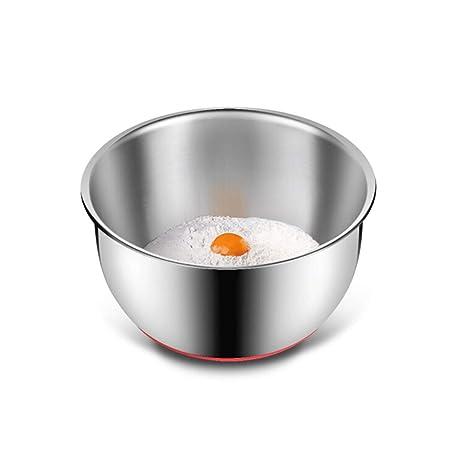 TONGBOSHI Cuenco de mezcla de acero inoxidable (juego de 3 ...