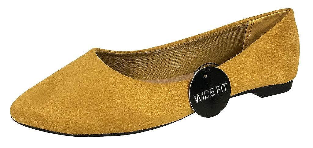 eadfa712a55f7 City Classified Women's Comfort Pointed Wide Width Slip-On Ballet Flats