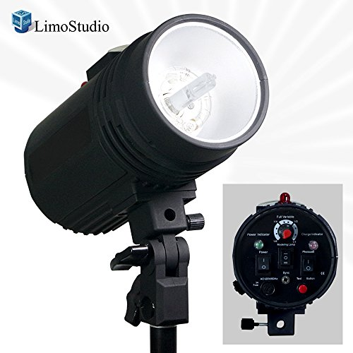 LimoStudio Flash Strobe Light 200 Watt, Sync Cord, Fuse, Test Button, Wireless Triggering Available, Umbrella Input, Mount on Light Stand, Professional Photography Use, Photo Studio, (Digital Strobe Light)