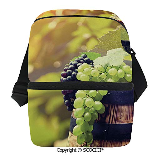 SCOCICI Insulated Lunch Cooler Bag Agriculture Country Theme Natural Landscape Product Alcoholic Drink Fruit Decorative Reusable Lunch for Men Women Heat Insulation,Heat Protection]()