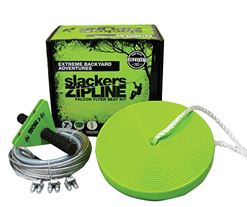 Slackers 40'  Zipline Falcon Series Kit with Seat by Slackers
