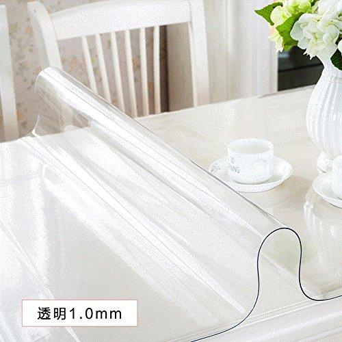 Soft Glas Tischdecke Wasserdicht und Bügeln PVC-Kunststoff transparent Crystal Board Haushalt, Transparent 1,0 mm, 60 x 130 cm, B078Y3WCSL Tischdecken Qualitätsprodukte       Hochwertige Produkte