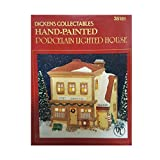 Dickens Collectibles Hand-Painted Porcelain Lighted Post Office and Barber Shop
