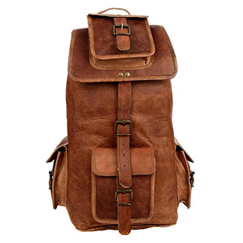 Paper High Large Brown Leather Rucksack by Paper High
