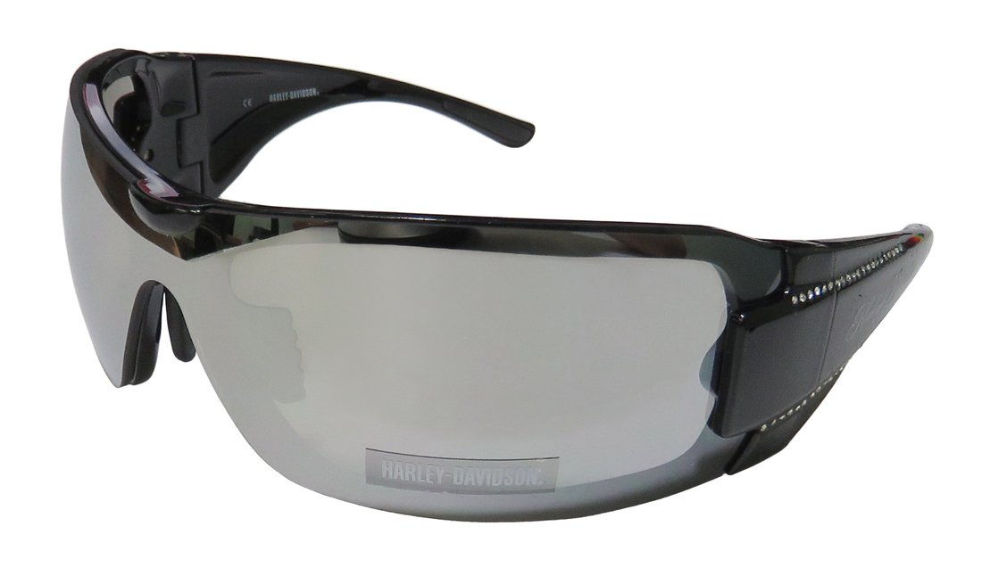 Harley-Davidson HDS8003BLK-3F Black Frame Grey Flash Lens Sunglasses by Viva Eyewear