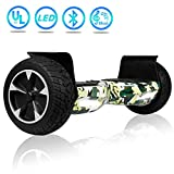UNI-SUN Off Road Hoverboard, Bluetooth Hoverboard for Kids, All Terrain Hoverboard, 8.5 Inch Two-Wheel Self Balancing Hoverboard for Adult,UL2272 Certified Hover Board-Camo Green