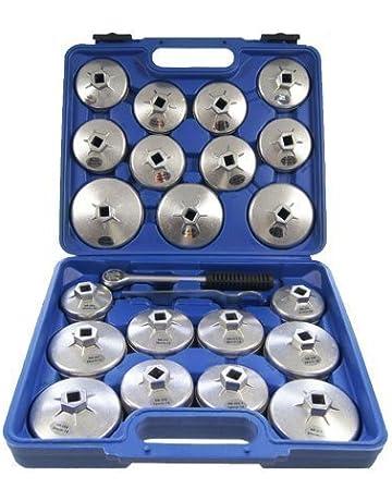 Merry Tools HK Filtro Aceite Aleación Aluminio 23 Piezas Llave Inglesa Herramienta GAraje 450256