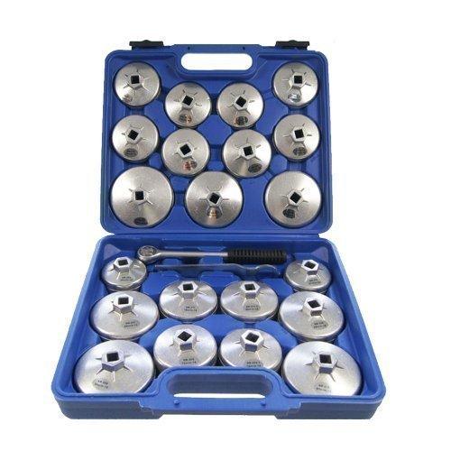 Merry Tools HK Filtro Aceite Aleacion Aluminio 23 Piezas Llave Inglesa Herramienta GAraje 450256