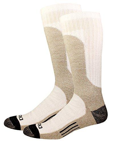 Steel Toe Socks - Dickies Steel Toe Shin Protector Boot Length Crew, White, 4 Pair