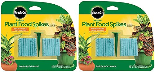 (Miracle-Gro Indoor Plant Food, Fertilizer Spikes, 2.2 Ounce (2 Pack))