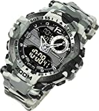 [Lad Weather] 200m Water Resistance/Stopwatch/Analog Digital Display/Military Watch