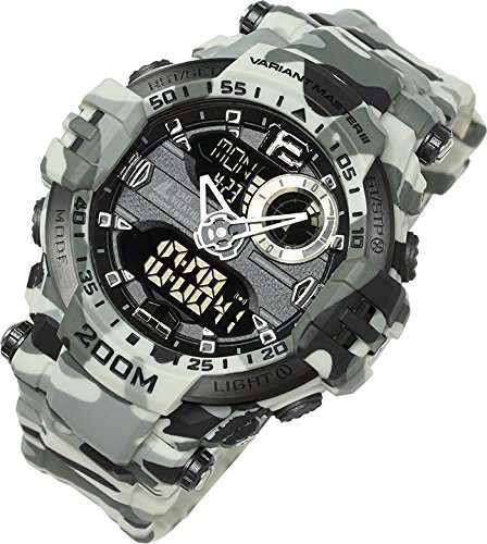 [Lad Weather] 200m Water Resistance/Stopwatch/Analog Digital Display/Military Watch by LAD WEATHER