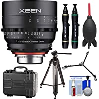 Rokinon Xeen 35mm T/1.5 Wide-Angle Pro Cine Lens (for Video DSLR Cinema Canon EF Cameras) with Waterproof Hard Case + Tripod + Dolly + Kit