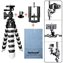 "Fantaseal® 11"" Robust Octopus Tripod for Smartphone 3-in-1 Mini Tripod Gorillapod Outdoor Tripod Mobile Phone Holder Selfie Tripod w/ Gopro Adapter + Cellphone Clip (UP to 5.5"" Screen) for iPhone 7+/ 7/ 6S+/ 6S/ 6+/ 6/ 5/ 5C/ 4S/ 4 + Samsung Galaxy S8/ S8+/ S7/ S7 Edge/ J7/ S6 Edge/ S5/ Note 5/ Note 4/ Note 3 + Huawei P10/ P10 plus/ P9/ P9 lite/ P9 plus/ Mate 9/ Mate 8 Xiaomi Nexus LG HTC ZTE Sony Blackberry Nokia etc Cellphone +Action Camera + DSLR Camera Tripod"