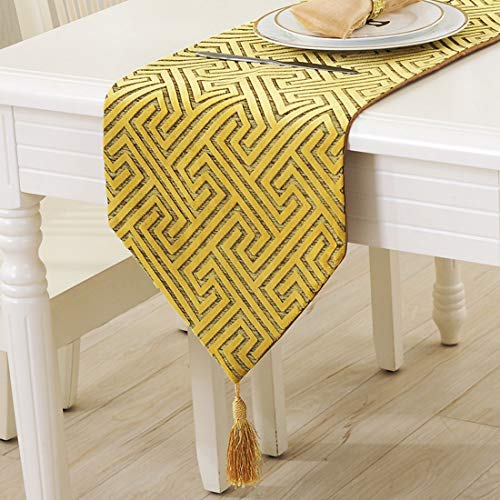FUBON-US Table Runners Tablecloth Modern Simple Hollow Maze Snowflake Table Flag Suede Rectangle Coffee Table Decoration Table Flag Tablecloth Apply to Home Decoration