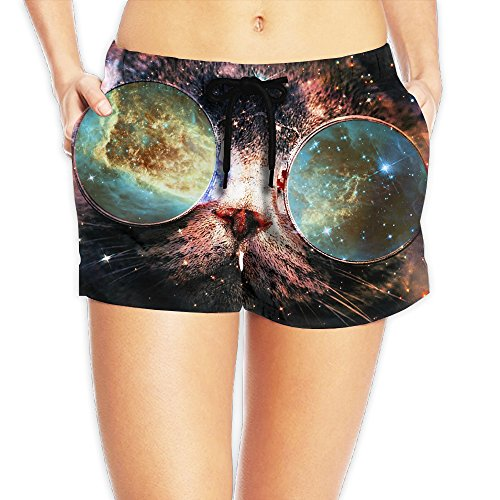 Women's Galaxy Cat Sunglasses Universe Quick-drying Swim Trunks Board Shorts Beach Shorts - Sunglasses Mike Ditka