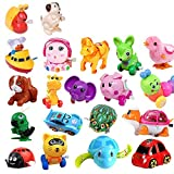 20 Pack Wind up Toys Assorted Mini Toy Animal for Children's Party Gifts Kids Birthdays Random Styles