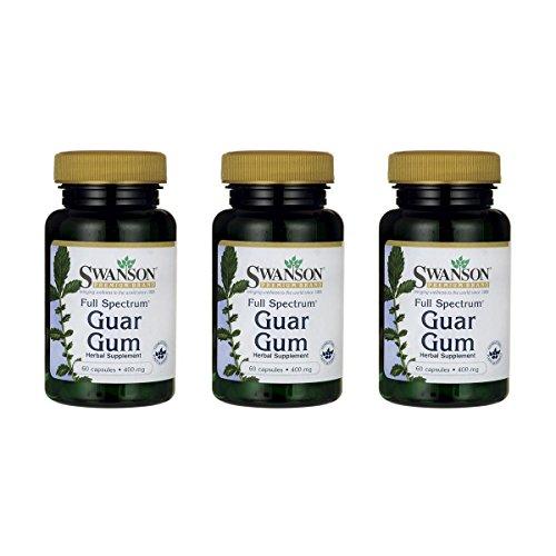 Swanson Full Spectrum Guar Gum 400 mg 60 Caps 3 Pack
