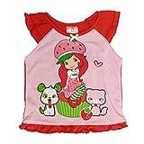 Strawberry Shortcake Girls 2 PC Pajama Set, Red, 3T