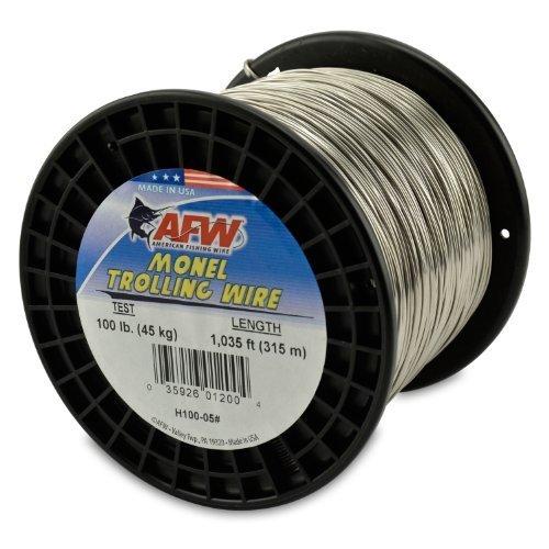 American Angeln Draht Monel-Schleppen Draht, 100-pound Test 1.02 mm Dia 315 M von amerikanischen Angeln Draht