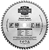 CMT K06014 ITK Contractor General Purpose Saw Blade, 14 x 60 Teeth, 10° ATB with 1-Inch bore