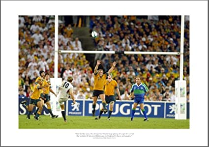 Johnny Wilkinson 2003 Rugby World Cup Final Drop Kick Photo