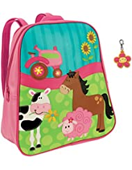 Stephen Joseph Girl Farm Backpack with Flower Zipper Pull - Girls Backpacks