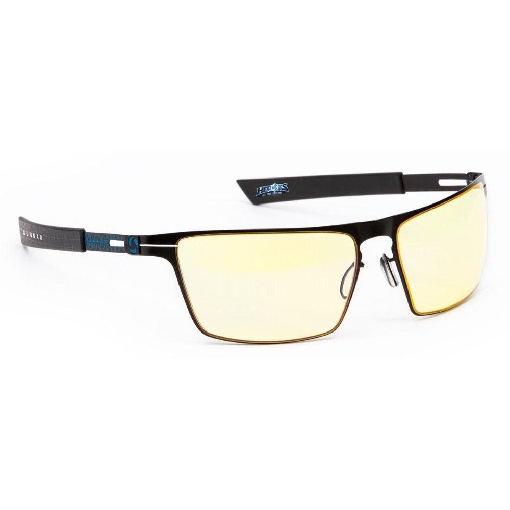 GUNNAR Optiks BLI-00126 Advanced Gaming Eyewear Heroes of The Storm Siege, Ice Frame with Amber Lens