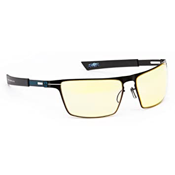 8460c5cd3483 Gunnar Heroes of the Storm Siege Gaming Eyewear with +0.2 Magnification -  Onyx Ice Amber  Amazon.co.uk  Computers   Accessories