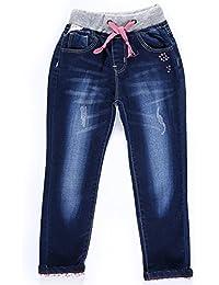 Little Girls' Jeans Kids Clothes Drawstring Waistband Denim Pants G116