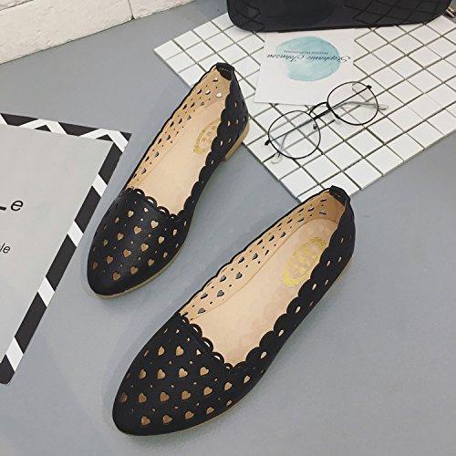 ITTXTTI Sandalias para Mujer Xia Pingdi Wild Bohemia un par de Zapatos para Llevar Sandalias, 39, Tela Verde negro