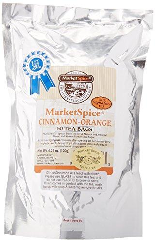 Market Spice signature Cinnamon-Orange 50-Teabags, 2 pack - Market Spice Cinnamon Tea