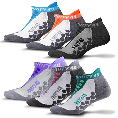 Series Race Pants (Thirty48 - Ru Cushioned Running Socks Series, with CoolMax Fabric Keeps Feet Cool and Dry, 6 Pack)