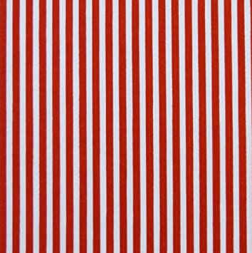 Red White 3mm Stripe Polycotton Fabric Per Metre Amazoncouk