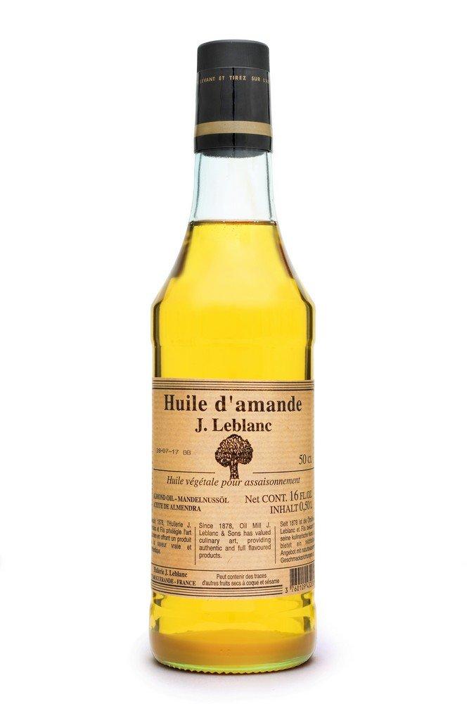 French Almond Oil (16 fl oz (500 mL)) by Huilerie J. Leblanc