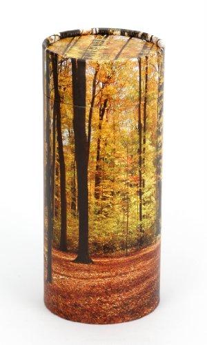 Urns UK Scattering Ashes Tube Autumn Wood, Medium, 120 Ci