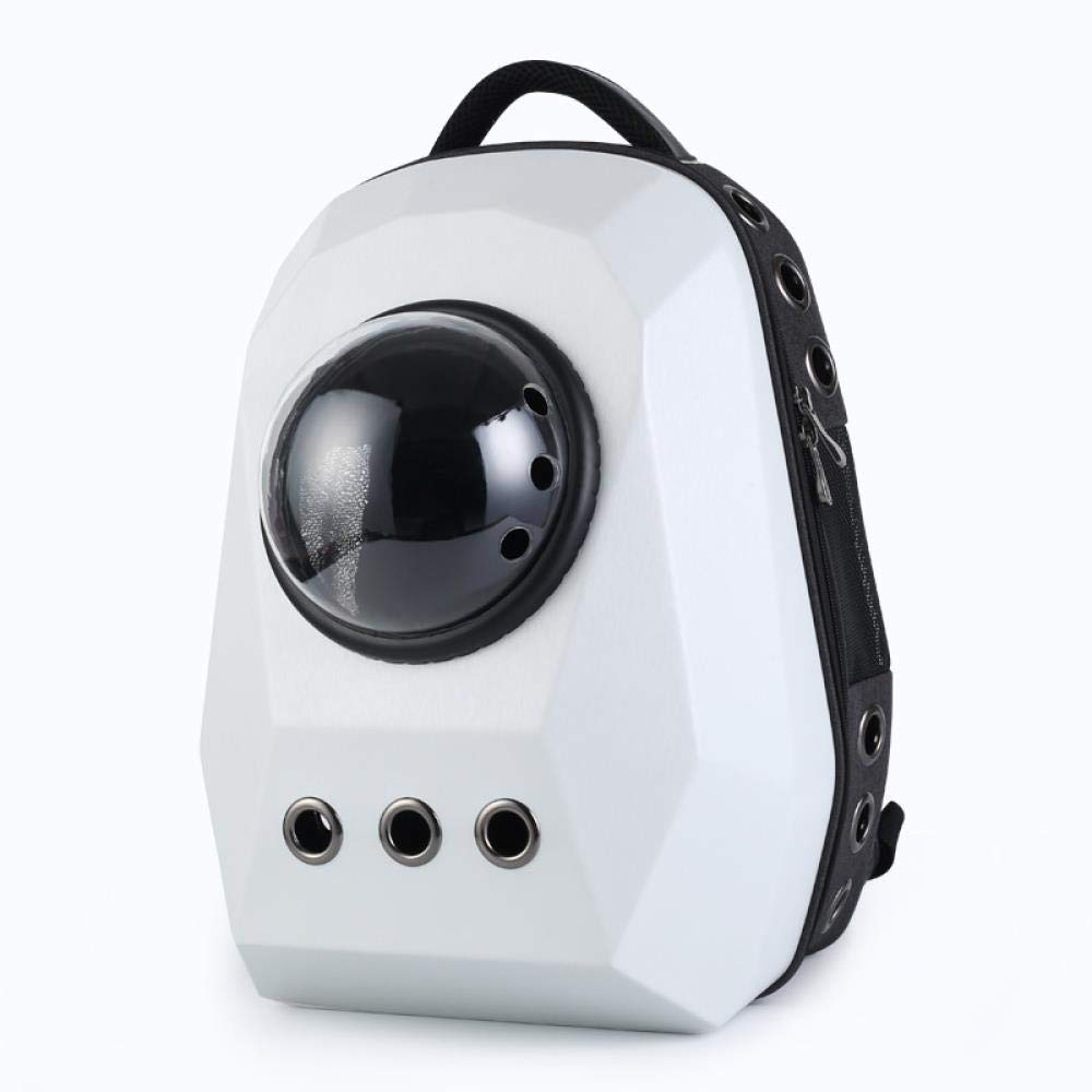 WINNER POP Airline Approved Portable Soft Dog Bag Ventilation, Back Support Travel, Hiking, Walking, Fashion Cool Pet Backpack(Large), White by WINNER POP